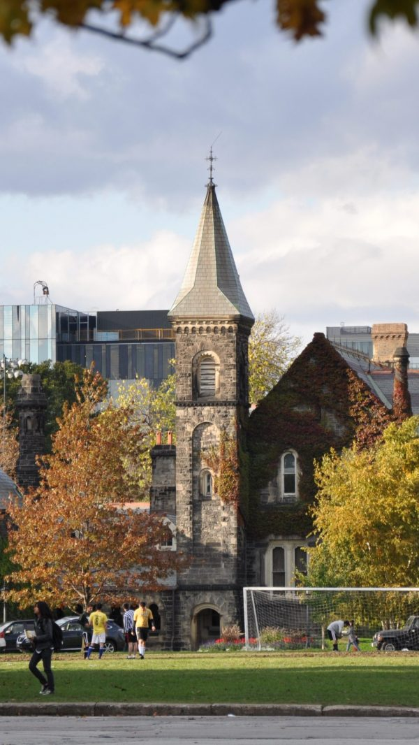 Every student who is admitted to the Faculty of Arts and Science at the University of Toronto also becomes a member of a college. University College, pictured here, is the founding college of the University of Toronto, established in 1853.